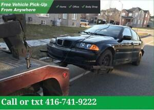 NORTHYORK  CASH FOR CARS | SCRAP-SALVAGE-USED-JUNK CARS | TOP CASH For Unwanted Cars - Damage  Cars - Not Running Cars