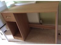 Light oak/beech coloured desk