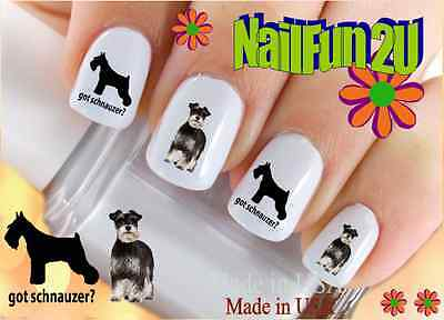 "RTG Set#149 DOG BREED ""Got Schnauzer"" WaterSlide Decals Nail Art Transfers Salon"