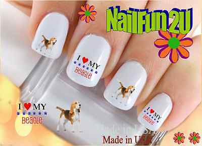 "RTG Set#110 DOG BREED ""Beagle Love"" WaterSlide Decals Nail Art Transfers Salon"