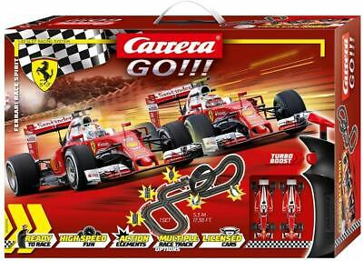 Carrera Go !!! Ferrari Race Spirit Slot Car Racing Race Set 62505 NEW
