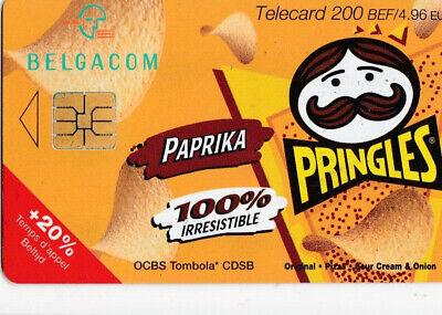 L2 ) telecarte  200 francs pringles paprika ( snack pringles 50 gr )  PK435