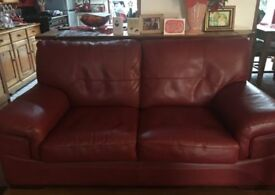 Red 2/3 Seater Sofa Couch Settee from SCS by Endurance