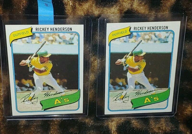 Baseball Card Rickey Henderson Graded PSA 4 VG-EX #482 1980 Topps - Base