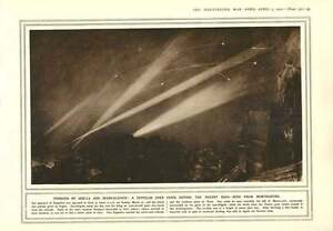 1915 Zeppelin Over Paris Neuve Chapelle Bombardment