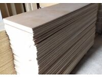 50 Pieces of NEW 12mm B/BB Grade Birch Plywood 8ft x 10in (2440mm x 250mm)
