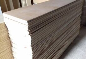 25 Pieces of NEW 12mm B/BB Grade Birch Plywood 8ft x 10in (2440mm x 250mm)