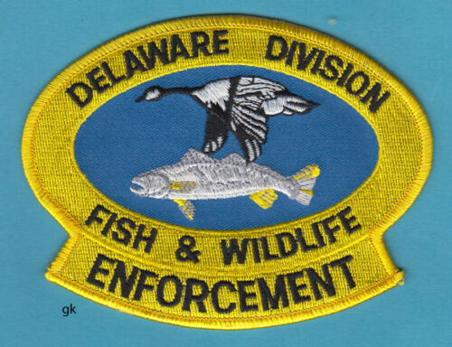 DELAWARE FISH & WILDLIFE ENFORCEMENT POLICE SHOULDER PATCH