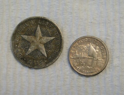 FOREIGN COINS ~ Two (2) OLD SILVER COINS