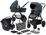 Kinderkraft Xmoov Denim 3-in-1 Combi Kinderwagen incl. Au...