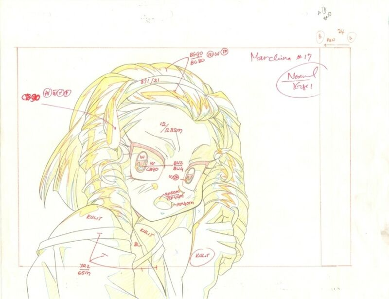 Anime Genga not Cel Slayers #224