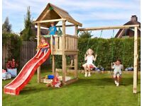 Jungle Gym Swing Set with Cubby Module