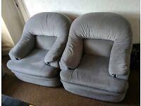3 Piece Grey Sofa Suite