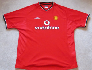 MANCHESTER UNITED 2001/2002 authentic red home jersey