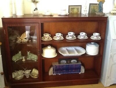 Stag Style Bookcase / Display Cabinet