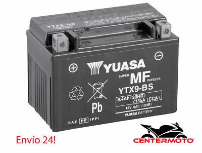 Bateria YUASA YTX9-BS   12v   8 AH   moto   ytx9bs...