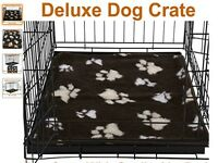 XXL Metal Folding Dog Crate with Metal Tray & Ellie-Bo Waterproof Memory Foam mattress