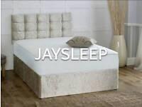 New crushed velvet divan bed in all sizes