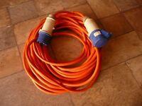 25m (82ft) 240v hook up lead ideal for Caravan, campervan, horsebox or motorhome etc