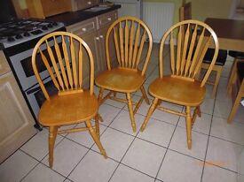 Three kitchen chairs