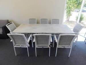 Outdoor Furniture Dining Set Aluminium 9 Piece (New/Factory 2nd) Deception Bay Caboolture Area Preview