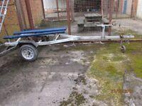 Inflatable boat rib dinghy jet ski jetski fishing boat vario galvanised trailer