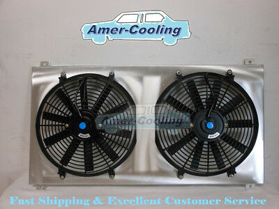 Aluminium Radiator Shroud + Fan For GMC Sierra 1500 2500 3500 HD Yukon Hummer -