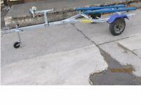 indespension Inflatable boat rib dinghy jet ski jetski fishing boat vario galvanized trailer