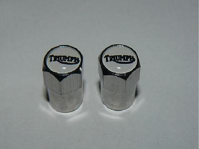 Triumph Tyre Valve Dust Caps  Motorcycle x2