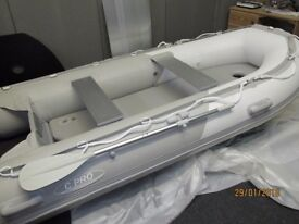 3.4m inflatable boat dinghy tender rib inflatable deck v keel, like avon zodiac honwave