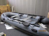 inflatable boat dinghy tender rib 3.8 aluminium deck v keel fishing dive like honwave zodiac