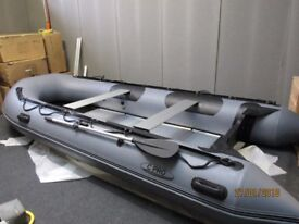 4.20m inflatable boat dinghy tender rib aluminium deck v keel dive fishing like honwave avon zodiac