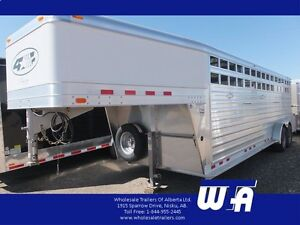 "2016 4 Star 24' X 7' X 6'6"" Stock Trailer"
