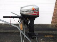 Mariner Marathon Mercury Outboard motor boat engine Fishing dory rib, year 2010. Longshaft.