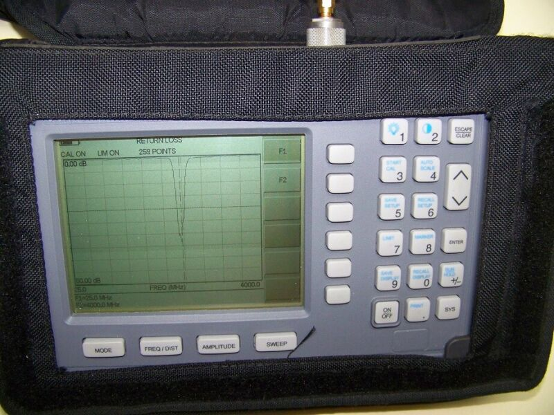 Nice Anritsu S331C Site Master with new Battery,Charger 4GHz Full Test!