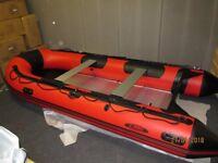 inflatable boat dinghy tender rib 4.2m aluminium deck v keel dive fishing like honwave avon zodiac
