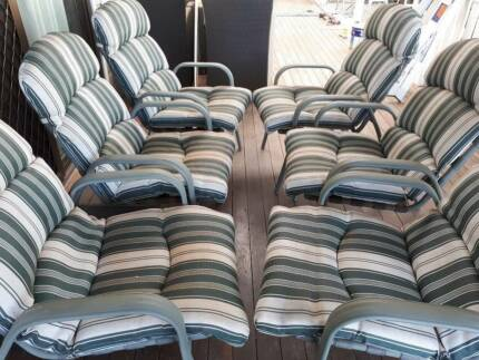 Patio Chairs with Cushions x 6