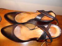 Enrico Antinori platform shoes black size 39 1/2 EU or 6.5 UK