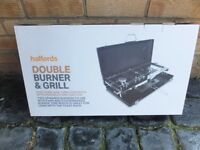camping double burner / hob and grill