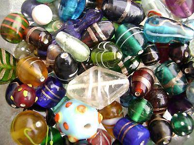 (3354GL Glass Bead Mix Lampwork Vintage Style Small - Large 3-20mm 100 grams)