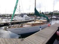 35'CLASSIC WOODEN SAILING YACHT £18500 JUST REDUCED open to offers