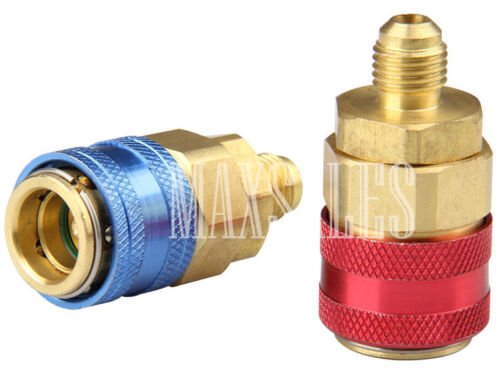 New R134a Auto Quick Coupler Connector Brass Adapters Low High Side AC Manifold