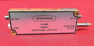 Wiltron D-21602 Anritsu Directional Coupler 2-40ghz