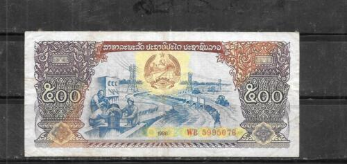 LAOS LAO #31a 1988 VG USED OLD 500 KIP LARGE BANKNOTE BILL NOTE CURRENCY