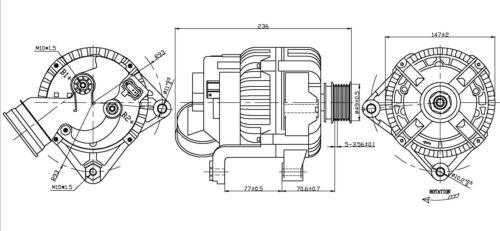 Alternator fits 2001-2006 BMW 325Ci 330Ci,X5 325i,325xi
