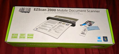 Adesso EZScan 2000 Mobile Document Scanner New NIB Great For