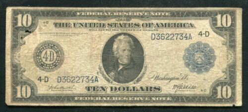 1914 $10 TEN DOLLARS FRN FEDERAL RESERVE NOTE CLEVELAND, OH