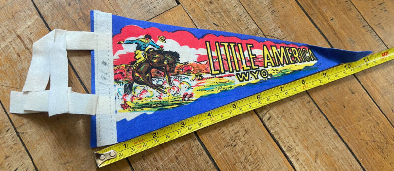 Vintage 1964 Little America Wyoming Cowboy Bucking Bronco