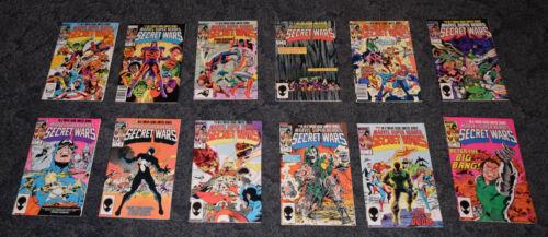 MARVEL COMICS SUPER HEROES SECRET WARS COMPLETE SERIES 1-12 1984