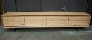 Beaumaris - 2400mm TV Unit - Solid Messmate Timber - LAST ONE